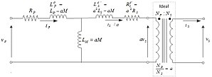 Leakage inductance - Fig. 3 Nonideal transformer equivalent circuit