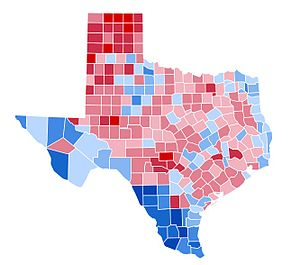 United States presidential election in Texas, 1996 - Image: TX1996