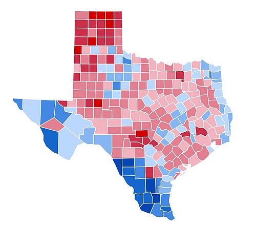 1996 United States presidential election in Texas - Wikipedia