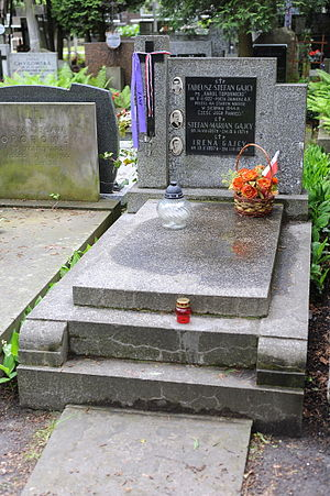 Tadeusz Gajcy - Grave of Gajcy at Powązki Military Cemetery