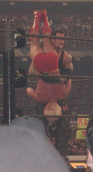 The Streak (wrestling) - The Undertaker delivering a Tombstone Piledriver to Ric Flair