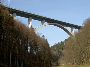 Gräfenroda - Wilde Gera bridge of the BAB 71