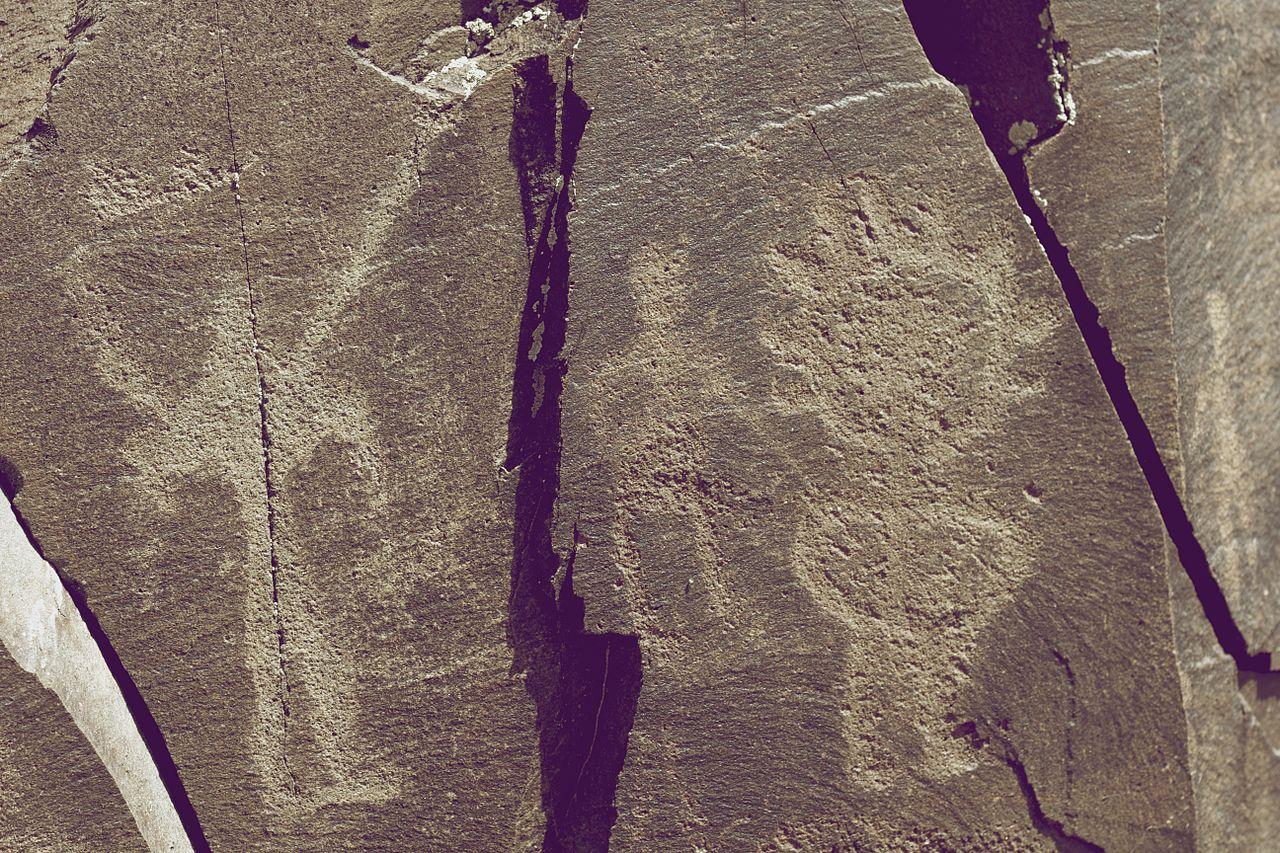 Tamgaly Petroglyphs Human Figures Kazakhstan.jpg