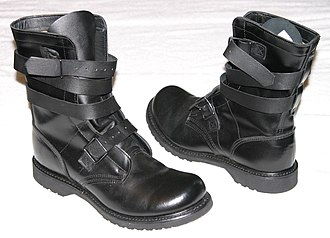 Tanker boot - Tanker boots have a wrap-around strap closure.