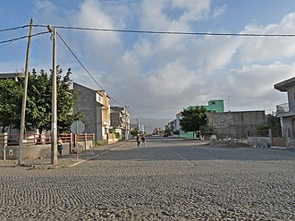 EN1-ST01 - A street in Tarrafal, the northern terminus of the route