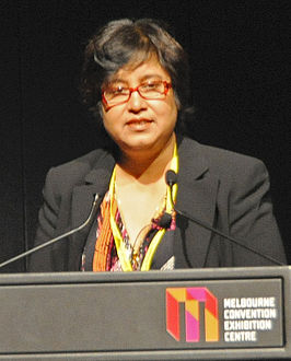 Taslima Nasreen tijdens de Global Atheist Convention in 2010