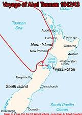 Abel Tasman's itinerary