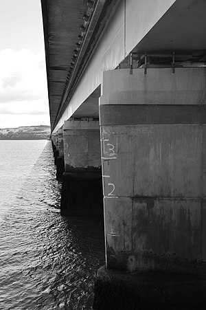 Tay Road Bridge - Tay Road Bridge from City Quay, Dundee