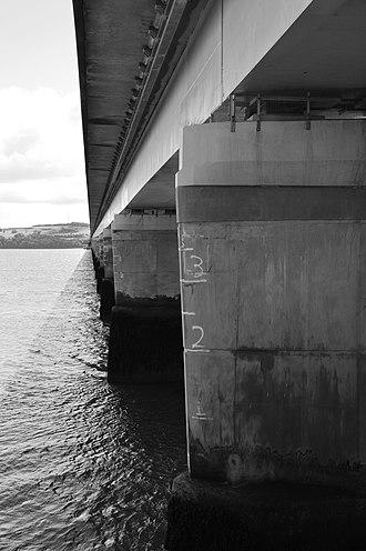 Tay Road Bridge - Tay Road Bridge from City Quay, Dundee