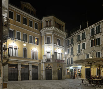 Teatro Malibran - Night view of the theater