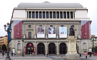 Teatro Real - Teatro Real de Madrid from the east at the Plaza de Isabel II - the other side of the theatre