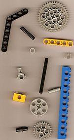 Alcuni pezzi della serie LEGO Technic