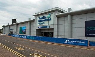 Teesside International Airport Civilian airport in Northern England
