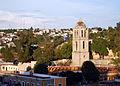 Templo y Ex Convento de San Francisco de la Asunción de Nuestra Señora, Tlaxcala, Tlax. México. (Torre exenta y Plaza de Toros).JPG