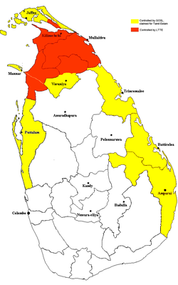 Fyra soldater dodades i sri lanka