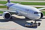 Thai Airways Boeing 777-3ALER - HS-TKQ (ZRH) (20815100884).jpg