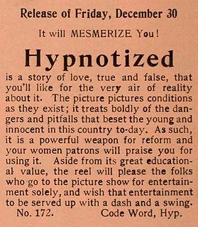 <i>Hypnotized</i> (1910 film) 1910 American film