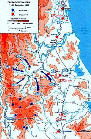 Operation Thayer - The area of Operation Thayer, Binh Dinh Province, South Vietnam.