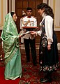 The Ambassador of Norway to India, Ms. Ann Ollestad presented his credentials to the President, Smt. Pratibha Devisingh Patil at Rashtrapati Bhavan in New Delhi on September 26, 2007.jpg