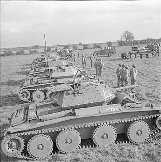 15th/19th The King's Royal Hussars - Covenanter tanks of 15th/19th The King's Royal Hussars on parade at Wellingborough for inspection by Alexander Cadogan, 1 November 1941