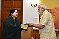 The Chief Minister of Tamil Nadu, Ms. J. Jayalalithaa calling on the Prime Minister, Shri Narendra Modi, in New Delhi on June 14, 2016 (1).jpg