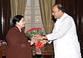 The Chief Minister of Tamil Nadu, Ms. J. Jayalalithaa meeting the Union Minister for Finance, Corporate Affairs and Defence, Shri Arun Jaitley, in New Delhi on June 03, 2014.jpg