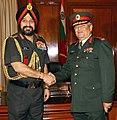 The Chief of the Army Staff, Nepal, Gen. Gaurav S.J.B. Rana meeting the Chief of Army Staff, General Bikram Singh, in New Delhi on June 11, 2014.jpg