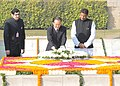 The Chinese Premier, Mr. Wen Jiabao laying wreath at the Samadhi of Mahatma Gandhi at Rajghat, in Delhi on December 16, 2010.jpg