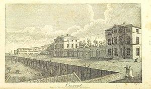 The Crescent (Birmingham) - Artist's interpretation of the original design, from William Hutton's 1809 book An history of Birmingham