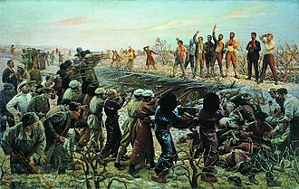 26 Baku Commissars - Isaak Brodsky's The Execution of the Twenty Six Baku Commissars (1925) depicting the Soviet view of the execution.