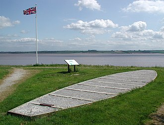 Ferriby Boats - A memorial at Ferriby to the finding of the boats