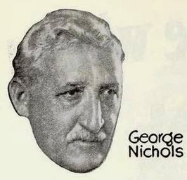 George Nichols op een advertentie over The Flirt (1922)