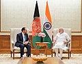 The Foreign Minister of Afghanistan, Mr. Salahuddin Rabbani calls on the Prime Minister, Shri Narendra Modi, in New Delhi on September 11, 2017 (1).jpg