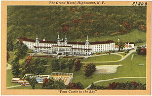 Grand Hotel (Highmount, New York) - Depiction of the Grand Hotel, Highmount, N. Y. on a postcard