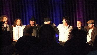 The Left Banke - George Cameron (3rd from left) and Tom Finn (Center, 4th from left) with band during their 2012 reunion tour.
