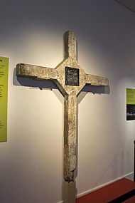 The Long Tan Cross on display at the Australian War Memorial