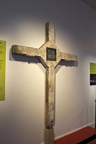 Long Tan Cross - The Long Tan Cross on display at the Australian War Memorial in August 2012