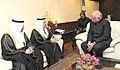 The Minister of Economy, UAE, Mr. Sultan Al Mansoori meeting the Union Minister for Civil Aviation, Shri Ashok Gajapathi Raju Pusapati, in New Delhi on February 10, 2016 (1).jpg
