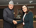 The Portuguese Minister of Agriculture, the Sea, Environment and Spatial Planning, Mrs. Assuncao Cristas meeting the Union Minister for New and Renewable Energy, Dr. Farooq Abdullah, in New Delhi on February 03, 2012.jpg