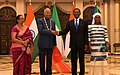 The President, Shri Ram Nath Kovind during the banquet lunch hosted by the President of the Republic of Equatorial Guinea, Mr. Obiang Nguema Mbasogo, at Presidential Palace, in Guinea on April 08, 2018.jpg