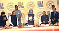 The Prime Minister, Dr. Manmohan Singh releasing a Coin at the Platinum Jubilee Celebrations of Reserve Bank of India, in Mumbai on April 01, 2010.jpg