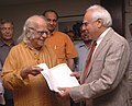 The Prof. Yashpal Committee Report being submitted to the Union Minister of Human Resource Development, Shri Kapil Sibal by Prof. Yashpal, in New Delhi on June 24, 2009.jpg
