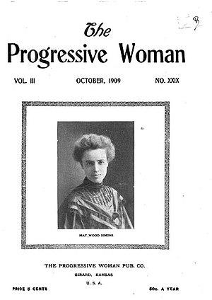 The Socialist Woman - Image: The Progressive Woman magazine cover October 1909