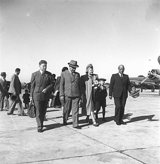 India–Russia relations - Soviet Ambassador Kirill Novikov arriving in New Delhi 1947 to establish formal diplomatic relations with India