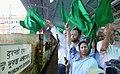 The Union Minister for Railways, Kumari Mamata Banerjee flagging off Sealdah-New Delhi first non-stop 'Duranto' express train, from Sealdah Railway Station, West Bengal on September 18, 2009.jpg