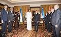 The Vice President, Shri M. Venkaiah Naidu calling on the President of the Republic of Uzbekistan, Mr. Shavkat Mirziyoyev, in New Delhi on October 01, 2018.JPG