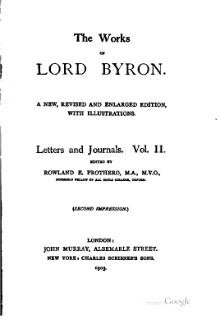 The Works of Lord Byron (ed. Coleridge, Prothero) - Volume 9.djvu