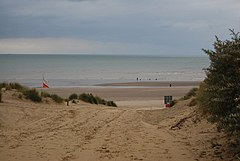 The beach at Camber from a footpath - geograph.org.uk - 1504182.jpg
