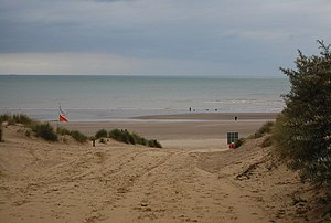 Camber Sands - Image: The beach at Camber from a footpath geograph.org.uk 1504182