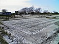 The big antechamber paved with white and black pebbles forming lozenges from the House of Dionysos, built in 325-300 BC, Ancient Pella (6914127702).jpg